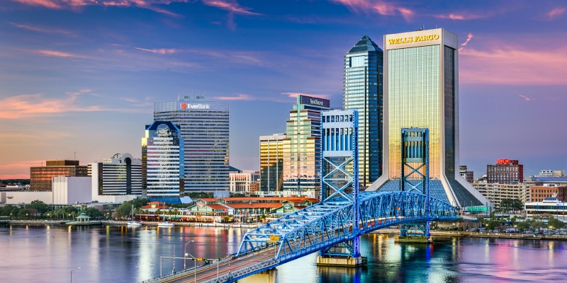 Jacksonville, Florida, USA downtown skyline.