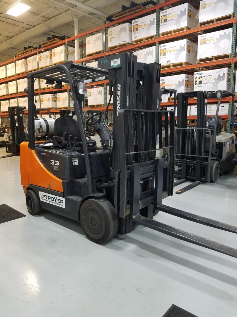 Doosan Gc33p 5 Used Forklift Truck Lift Power Florida