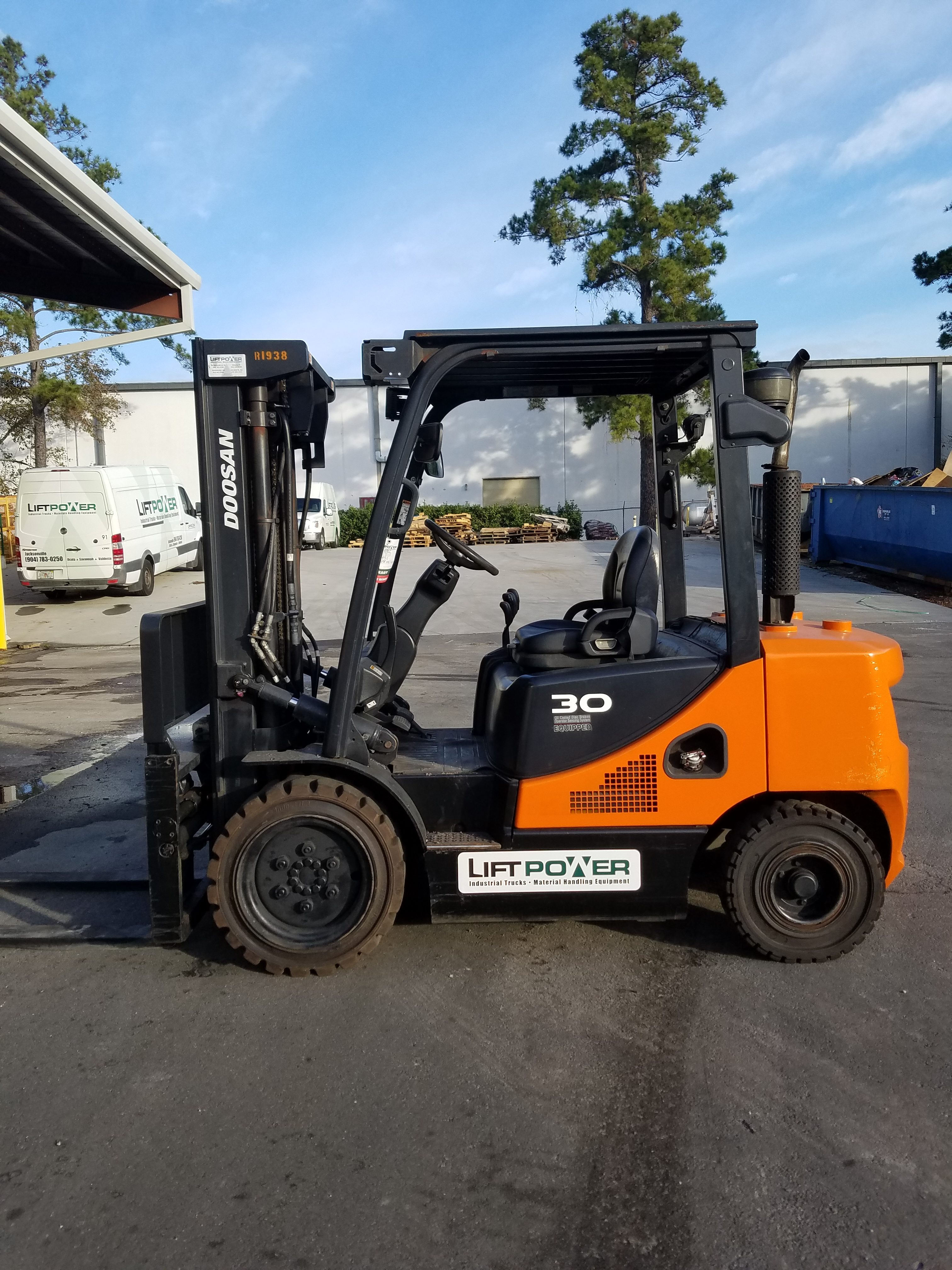 Doosan D30s 7 Used Forklift Lift Power Florida